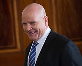 Outgoing National Security Advisor H. R. McMaster U.S. for a news conference with leaders of the Baltic Nations at The White House in Washington, DC, April 3, 2018. <br /> Credit: Chris Kleponis / Pool via CNP