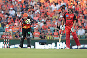 8th January 2018, The WACA, Perth, Australia; Australian Big Bash Cricket, Perth Scorchers versus Melbourne Renegades; Josh Inglis of the Perth Scorchers takes a return from the outfield during the Renegades innings