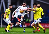 Preston North End's Alan Browne vies for possession with Blackburn Rovers' Richard Smallwood<br /> <br /> Photographer Richard Martin-Roberts/CameraSport<br /> <br /> The EFL Sky Bet Championship - Preston North End v Blackburn Rovers - Saturday 24th November 2018 - Deepdale Stadium - Preston<br /> <br /> World Copyright © 2018 CameraSport. All rights reserved. 43 Linden Ave. Countesthorpe. Leicester. England. LE8 5PG - Tel: +44 (0) 116 277 4147 - admin@camerasport.com - www.camerasport.com