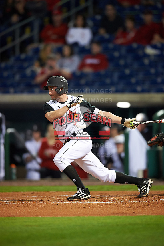 Louisville Cardinals center fielder Logan Taylor (24) at bat during a game against the Maryland Terrapins on February 18, 2017 at Spectrum Field in Clearwater, Florida.  Louisville defeated Maryland 10-7.  (Mike Janes/Four Seam Images)