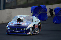 Jul, 20, 2012; Morrison, CO, USA: NHRA pro stock driver Jason Line during qualifying for the Mile High Nationals at Bandimere Speedway. Mandatory Credit: Mark J. Rebilas-US PRESSWIRE