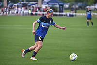 Kansas City, MO - Saturday May 07, 2016: FC Kansas City midfielder Jen Buczkowski (6) against the Houston Dash during a regular season National Women's Soccer League (NWSL) match at Swope Soccer Village. Houston won 2-1.
