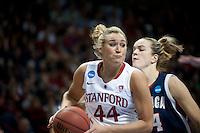 SPOKANE, WA - MARCH 28, 2011: Joslyn Tinkle, Stanford Women's Basketball vs Gonzaga, NCAA West Regional Finals at the Spokane Arena on March 28, 2011.