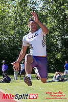 CBC sophomore Kamryn Babb won the long jump with a 23-2.75 mark at the 2016 MSHSAA Class 5 District 2 Track and Field Meet at Ladue High School, St. Louis, Saturday, May 14.