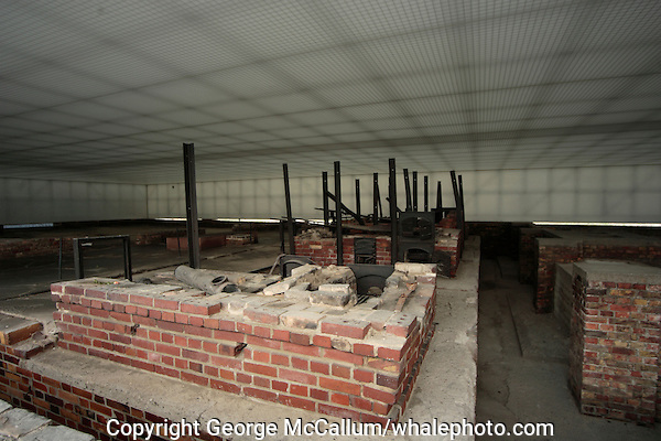 Remains of crematorium ovens at Station Z  in Sachsenhausen concentration camp  Germany
