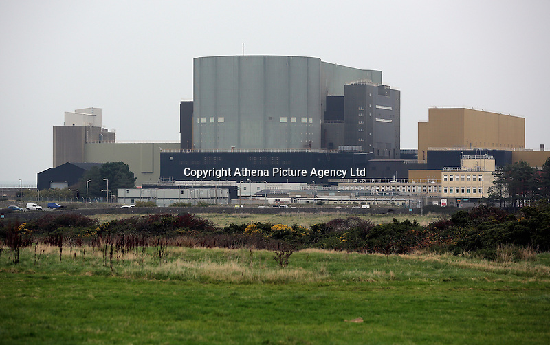 The Wylfa Power Station as seen from Cemlyn, north Wales, UK. Sunday 30 October 2016