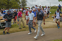 Kevin Kisner (USA) and Bubba Watson (USA) approach the first tee during day 5 of the World Golf Championships, Dell Match Play, Austin Country Club, Austin, Texas. 3/25/2018.<br /> Picture: Golffile | Ken Murray<br /> <br /> <br /> All photo usage must carry mandatory copyright credit (© Golffile | Ken Murray)