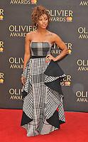 Alexandra Burke at the Olivier Awards 2018, Royal Albert Hall, Kensington Gore, London, England, UK, on Sunday 08 April 2018.<br /> CAP/CAN<br /> &copy;CAN/Capital Pictures<br /> CAP/CAN<br /> &copy;CAN/Capital Pictures