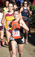 Nov 14, 2015; Claremont, CA, USA; Natalie Gradwohl of Occidental runs in the womens race during the 2015 NCAA Division III West Regionals cross country championships at Pomona-Pitzer College. (Freelance photo by Kirby Lee)