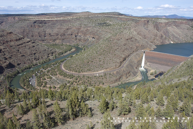 The Crooked River Canyon below the Arthur R. Bowman Dam, Oregon.