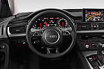 Car pictures of steering wheel view of a 2018 Audi A6 Avant Business Edition 5 Door Wagon