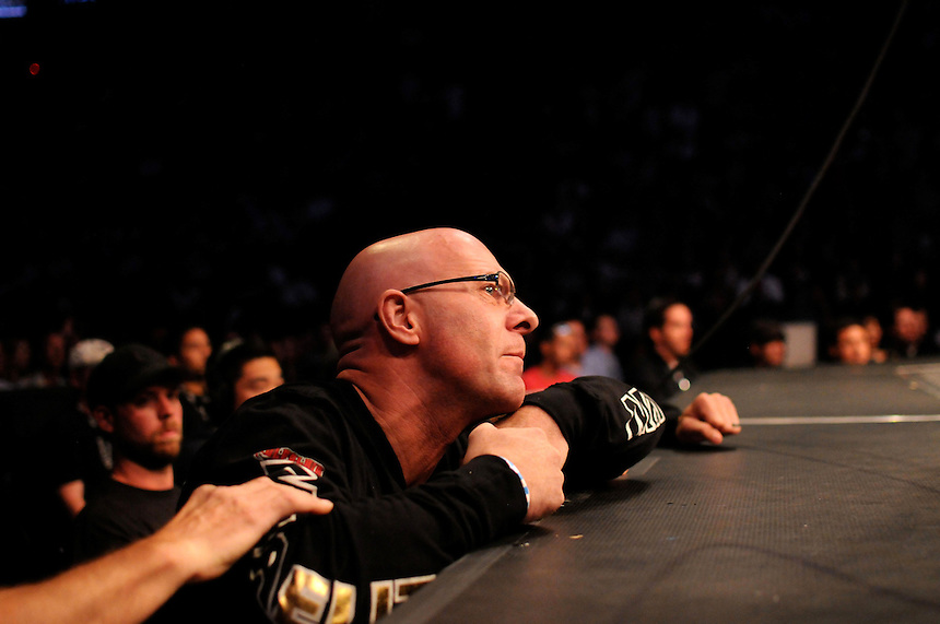 """24 SEPTEMBER 2011: A member of the training staff of Quinton """"Rampage"""" Jackson    during UFC 135 at the Pepsi Center in Denver, Colorado. *****For Editorial Use Only*****"""