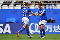 Esultanza Gol Valentina Cernoia e Manuela Giugliano <br /> Reims 14-6-2019 <br /> Football Womens World Cup 2019 <br /> Jamaica - Italy <br /> Foto Imago/Insidefoto <br /> ITALY ONLY
