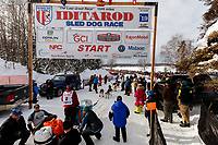 Kristin Bacon leaves the start line at Willow Lake during the restart of the 2019 Iditarod race in Willow, Alaska on Sunday March 3, 2019.<br /> <br /> Photo by Jeff Schultz/  (C) 2019  ALL RIGHTS RESERVED