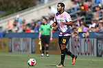 09 October 2016: Fort Lauderdale's Jose Angulo (COL). The Carolina RailHawks hosted the Fort Lauderdale Strikers at WakeMed Soccer Park in Cary, North Carolina in a 2016 North American Soccer League Fall Season match. Carolina won the game 3-0.