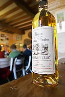 A bottle of sweet white Chateau Vieux Touron Monbazillac that goes well with truffles Truffiere de la Bergerie (Truffière) truffles farm Ste Foy de Longas Dordogne France