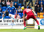 St Johnstone v Aberdeen&hellip;15.09.18&hellip;   McDiarmid Park     SPFL<br />Danny Swanson and Max Lowe<br />Picture by Graeme Hart. <br />Copyright Perthshire Picture Agency<br />Tel: 01738 623350  Mobile: 07990 594431