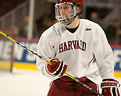 Adam Fox (Harvard - 18) - The Harvard University Crimson practiced at the United Center on Wednesday, April 5, 2017, in Chicago, Illinois.