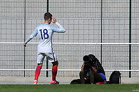 David Brooks scores England's opening goal and celebrates in front of a photographer during England Under-18 vs Ivory Coast Under-20, Toulon Tournament Final Football at Stade de Lattre-de-Tassigny on 10th June 2017