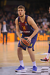 Turkish Airlines Euroleague 2017/2018.<br /> Regular Season - Round 23.<br /> FC Barcelona Lassa vs R. Madrid: 74-101.<br /> Sasha Vezenkov.