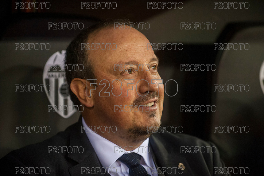 VALENCIA, SPAIN - JANUARY 3: Rafael Benitez during BBVA LEAGUE match between Valencia C.F. and Real Madrid at Mestalla Stadium on January 3, 2015 in Valencia, Spain