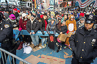 "Crowds pack Times Square in New York on Monday, December 31, 2012, the afternoon of New Year's Eve. Temperatures for the celebration are expected to drop below freezing but remain dry with over a million people packing the ""Crossroads of the World"" celebrating the incoming 2013. (© Richard B. Levine)"