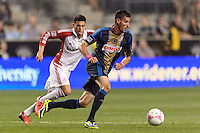 Sebastien Le Toux (11) of the Philadelphia Union. The Philadelphia Union defeated Toronto FC 1-0 during a Major League Soccer (MLS) match at PPL Park in Chester, PA, on October 5, 2013.