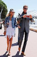 David Hasselhoff & Hayley Roberts on the Croisette during the 66th Cannes Film Festival - Cannes