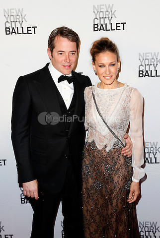 Matthew Broderick & Sarah Jessica Parker pictured at the New York City Ballet's 2011 Spring Gala at the David H. Koch Theater, Lincoln Center in New York City, May 11, 2011 © Martin Roe / MediaPunch Inc.