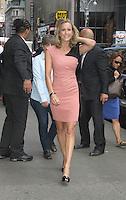 New York City, NY - June 26, 2012: Lara Spencer arrives at Good Morning America studios. © RW/MediaPunch Inc. *NORTEPHOTO*<br /> **SOLO*VENTA*EN*MEXICO** **CREDITO*OBLIGATORIO** *No*Venta*A*Terceros* *No*Sale*So*third* *** No Se Permite Hacer Archivo** *No*Sale*So*third*©Imagenes con derechos de autor,©todos reservados. El uso de las imagenes está sujeta de pago a nortephoto.com El uso no autorizado de esta imagen en cualquier materia está sujeta a una pena de tasa de 2 veces a la normal. Para más información: nortephoto@gmail.com* nortephoto.com.