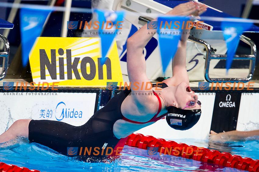 Missy Franklin USA<br /> Women's 100m backstroke semifinal<br /> Swimming<br /> 15th FINA World Aquatics Championships<br /> Barcelona 19 July - 4 August 2013<br /> Palau Sant Jordi, Barcelona (Spain) 29/07/2013 <br /> &copy; Giorgio Perottino / Deepbluemedia.eu / Insidefoto