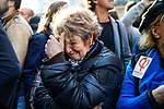 la soirée électorale de Jean-Luc Mélenchon et la France insoumise. Dans la  salle Belushi's<br /> 5 rue de Dunkerque, 75010 Paris.<br /> Dimanche 24 avril 2017, Paris.<br /> © Nicolas Righetti / Lundi13
