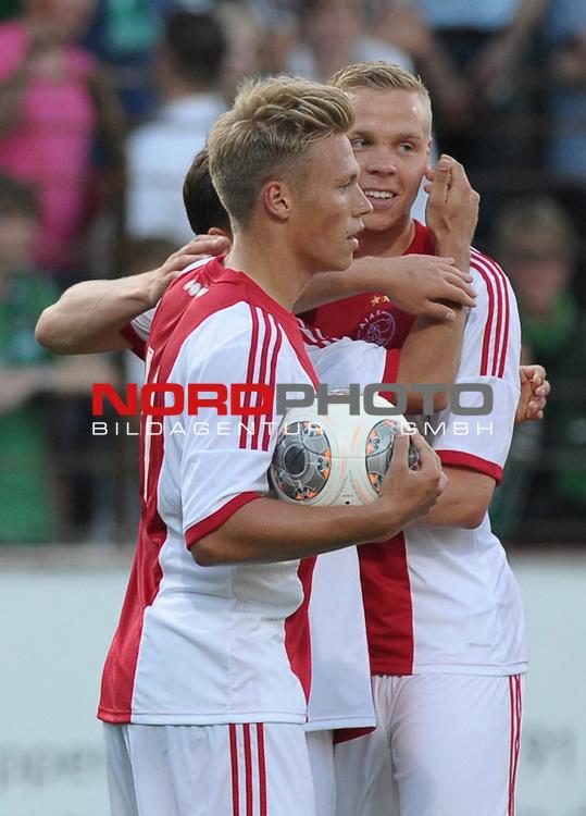 19.07.2013, MEP-Arena, Meppen, GER, 1.FBL, FSP, Werder Bremen vs Ajax Amsterdam, im Bild Jubel bei Ajax<br /> <br /> Foto &copy; nph / Frisch
