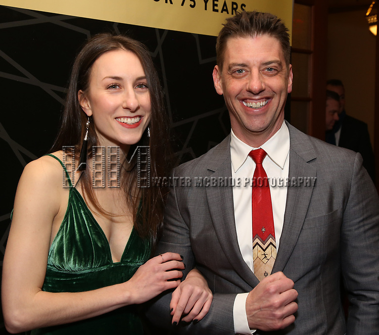 """Christian Borle and guest attend the New York City Center Celebrates 75 Years with a Gala Performance of """"A Chorus Line"""" at the City Center on November 14, 2018 in New York City."""