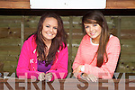 Siun Healy (Listowel) and Anna Maguire (Listowel) pictured at Listowel Races on Sunday..