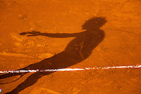 03-06-13, Tennis, France, Paris, Roland Garros,  Shadow  on clay