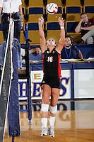 22 November 2008:  Western Kentucky University outside hitter Abbie Siljendahl (16) sets up a hit during the WKU 3-0 victory over New Orleans in the championship game of the Sun Belt Conference tournament at U.S. Century Bank Arena in Miami, Florida.