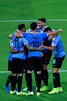ARMENIA, COLOMBIA - JANUARY 19: Uruguay's Diego Rossi (L) celebrates his goal with teammates during their CONMEBOL Pre-Olympic soccer game against Paraguay at Centenario Stadium on January 19, 2020 in Armenia, Colombia. (Photo by Daniel Munoz/VIEW press/Getty Images)