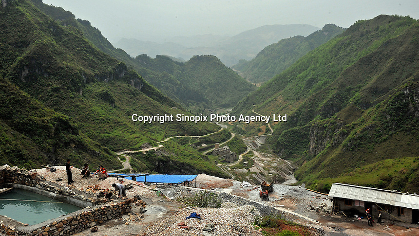 A newly opened mine belonging to Yin Ye Mining Co Ltd, in Luoxi Mercury Mining Area, near Wanchuan, Guizhou, China..20 Apr 2009