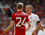 Darren Fletcher and John Terry during the Michael Carrick Testimonial match at the Old Trafford Stadium, Manchester. Picture date: June 4th 2017. Picture credit should read: Simon Bellis/Sportimage
