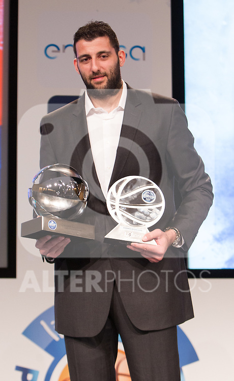 Laboral Kutxa Baskonia's Ioannis Bourousis during presentation of the Liga Endesa playoff. May 23,2016. (ALTERPHOTOS/Rodrigo Jimenez)