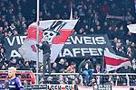 09.11.2019, Stadion an der Bremer Brücke, Osnabrück, GER, 2. FBL, VfL Osnabrueck vs. VfB Stuttgart<br /> <br /> ,DFL REGULATIONS PROHIBIT ANY USE OF PHOTOGRAPHS AS IMAGE SEQUENCES AND/OR QUASI-VIDEO, <br />   <br /> im Bild<br /> Fankurve / Fans / Fanblock / VfB Stuttgart mit Banner / Plakat gegen den Videobeweis.<br /> <br /> <br /> Foto © nordphoto / Paetzel