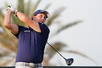 Phil Mickelson (USA) on the 12th during Round 2 of the Saudi International at the Royal Greens Golf and Country Club, King Abdullah Economic City, Saudi Arabia. 31/01/2020<br /> Picture: Golffile | Thos Caffrey<br /> <br /> <br /> All photo usage must carry mandatory copyright credit (© Golffile | Thos Caffrey)