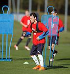 Ex-Barcelona winger Gai Assulin at training today