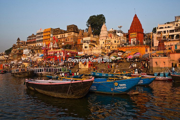 Kashi Ghat of the ancient city of Varanasi in Uttar Pradesh, India. Photograph: Sanjit Das/Panos