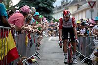 Thomas De Gendt (BEL/Lotto Soudal) pre stage.<br /> <br /> Stage 19: Saint-Jean-de-Maurienne to Tignes (126km)<br /> 106th Tour de France 2019 (2.UWT)<br /> <br /> ©kramon
