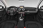Stock photo of straight dashboard view of a 2015 Audi A3 Ambiente 5 Door Hatchback 2WD Dashboard