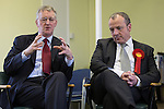 © Joel Goodman - 07973 332324 . 03/02/2014 . Manchester , UK . L-R Hilary Benn and Mike Kane . Hilary Benn , MP for Leeds Central and Shadow Community Secretary for the Labour Party , joins Labour candidate Mike Kane on the campaign trail ahead of the Wythenshawe and Sale East by-election , following the death of MP Paul Goggins . The pair speak to local pensioners about communities and housing . Photo credit : Joel Goodman
