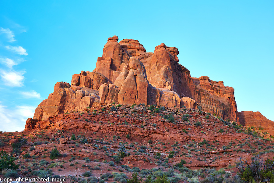 Red rock formation in Arches National Park, Utah