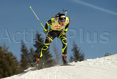 09.12.2011, Hochfilzen, Austria. The IBU Biathlon men's 10km Sprint Fourcade Martin FRA Biathlon World Cup